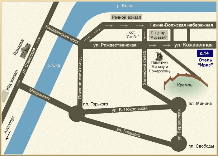 Ирис - Схема проезда